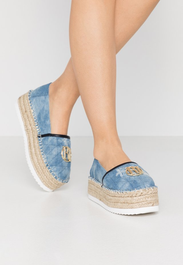 Espadrilky - blue denim