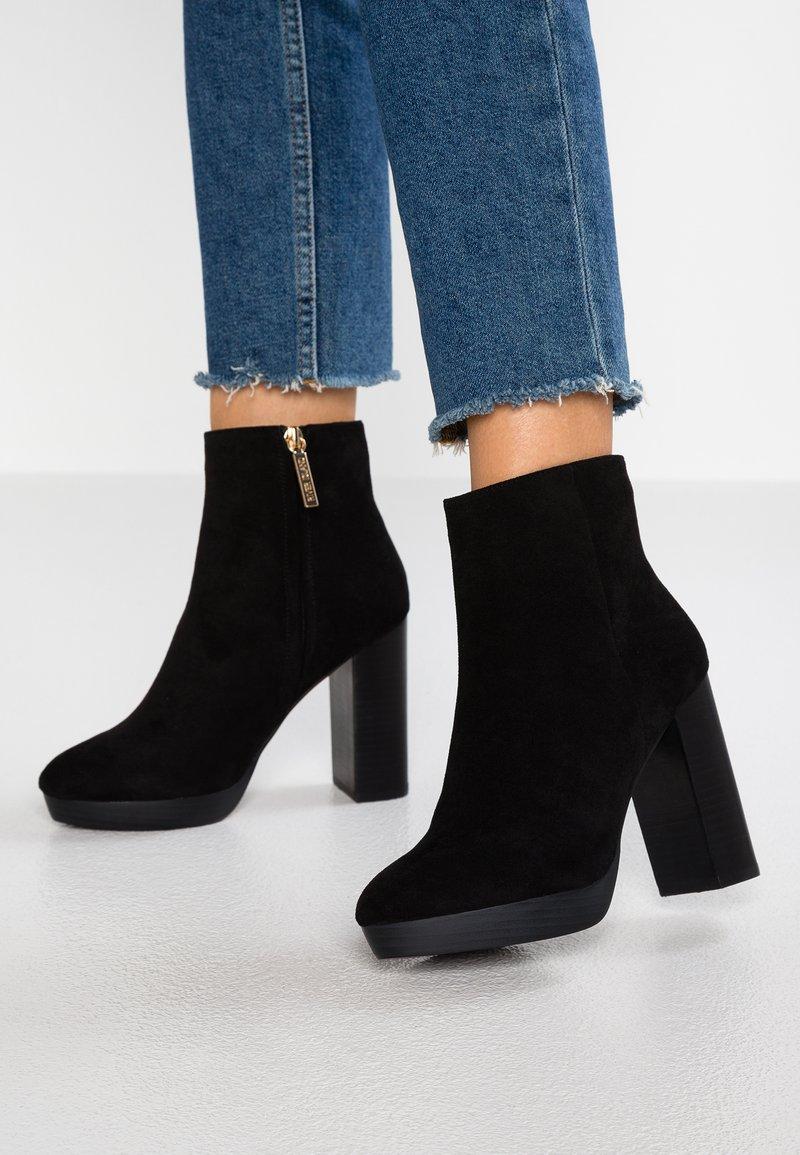 River Island - Kotníková obuv na vysokém podpatku - black