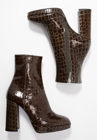 River Island - High heeled ankle boots - green - 3