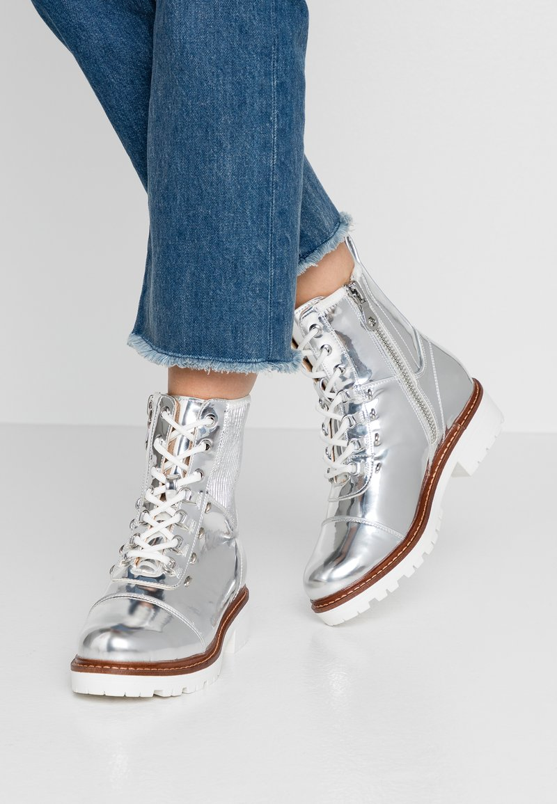 River Island - Lace-up ankle boots - silver