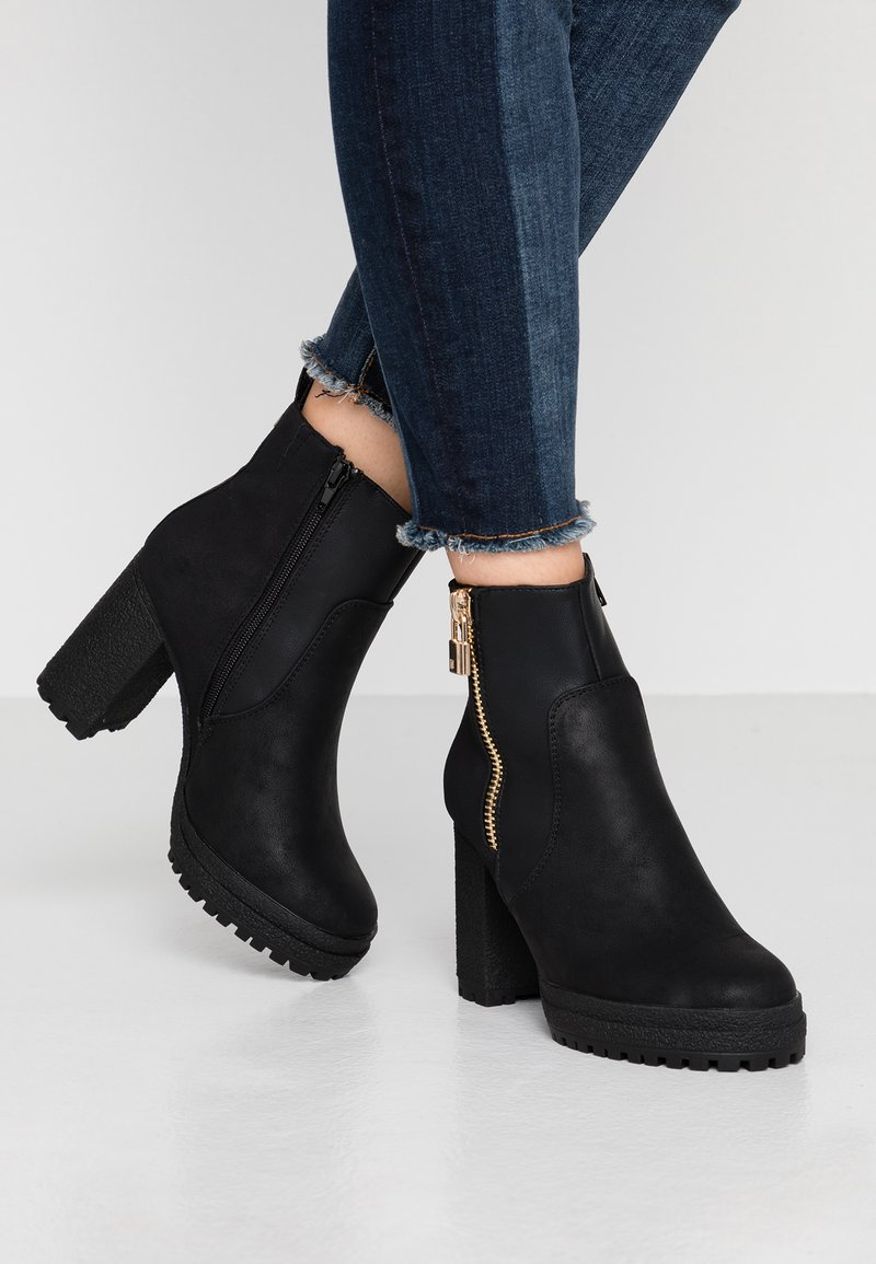 River Island - High heeled ankle boots - black