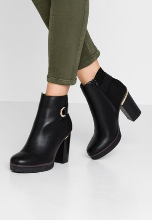 Kotníková obuv na vysokém podpatku - black