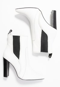 River Island - High heeled ankle boots - white - 3