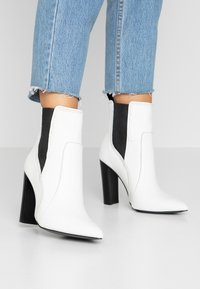 River Island - High heeled ankle boots - white - 0