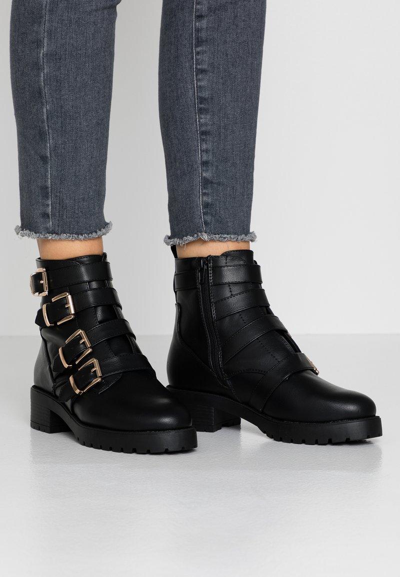 River Island - Cowboy/biker ankle boot - black