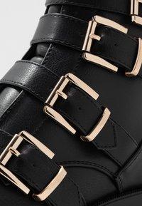 River Island - Cowboy/biker ankle boot - black - 2