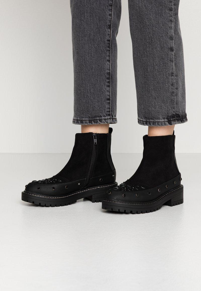 River Island - Platform ankle boots - black