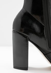 River Island - High heeled ankle boots - black bright - 2