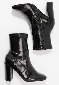 River Island - High heeled ankle boots - black bright - 3