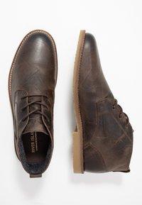 River Island - Volnočasové šněrovací boty - dark brown - 1