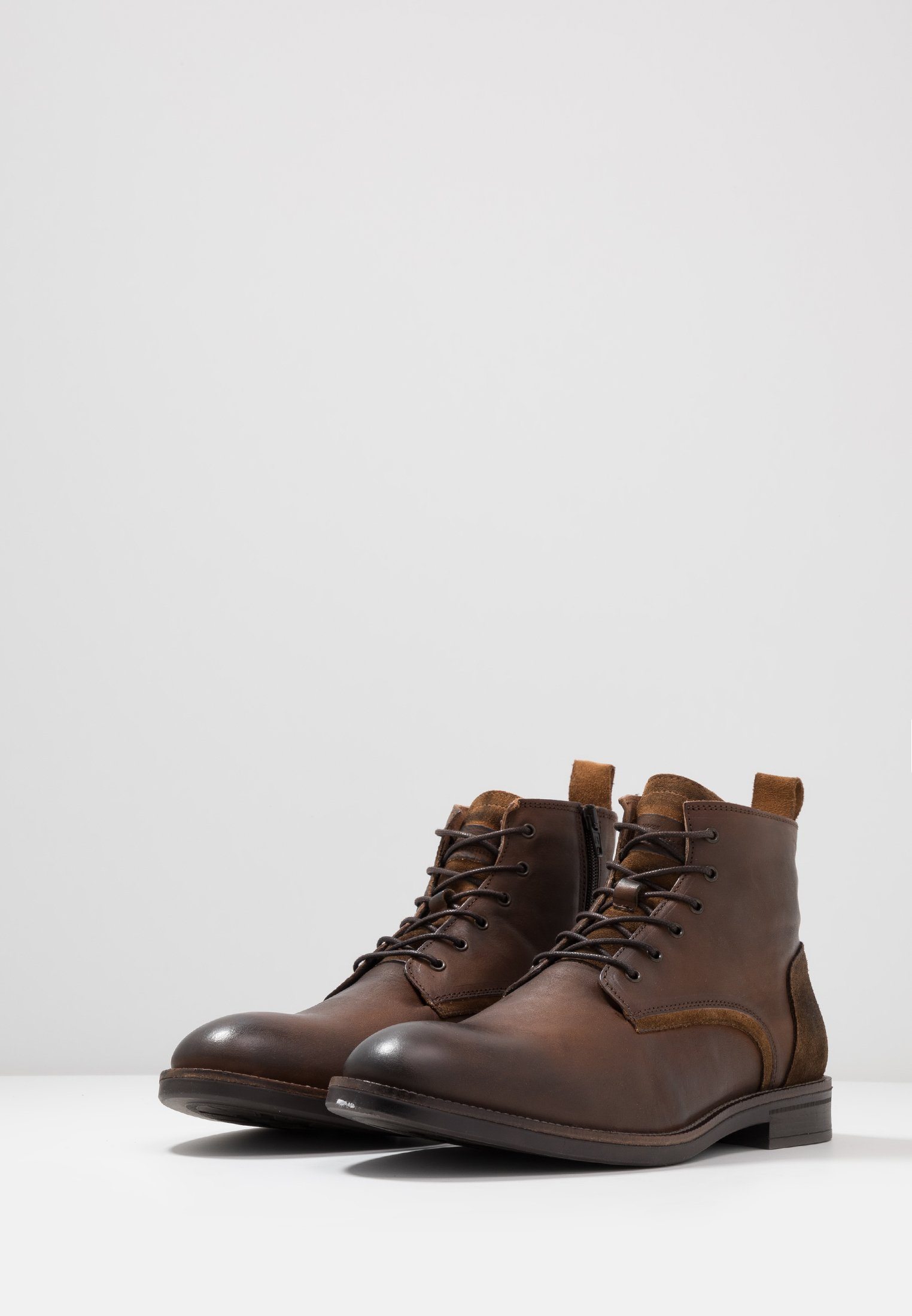 River à Island Bottines lacets brown E29IDH