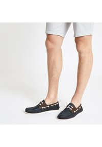 River Island - Chaussures bateau - navy - 1