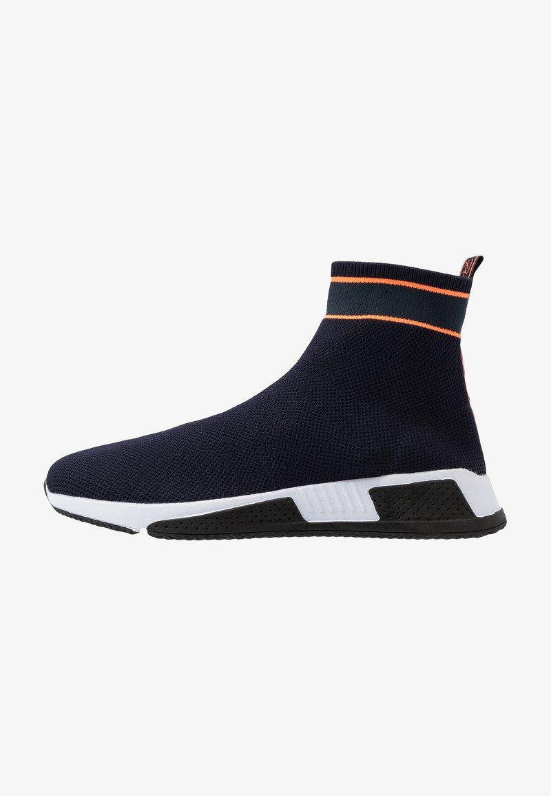 River Island - Höga sneakers - navy
