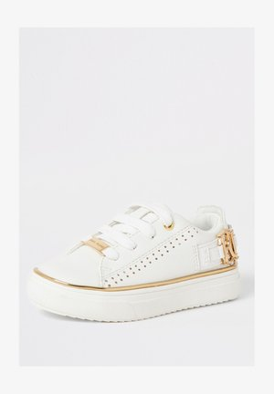 MINI GIRLS WHITE RI PERFORATED TRAINERS - Chaussures premiers pas - white
