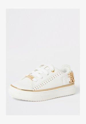 MINI GIRLS WHITE RI PERFORATED TRAINERS - Zapatos de bebé - white