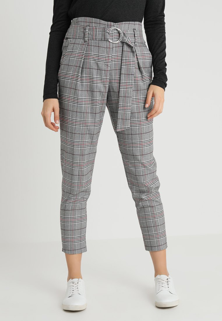 River Island - Trousers - red/black
