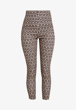 Leggings - Hosen - dark brown/beige