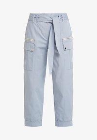 River Island - Pantalones cargo - light blue - 3