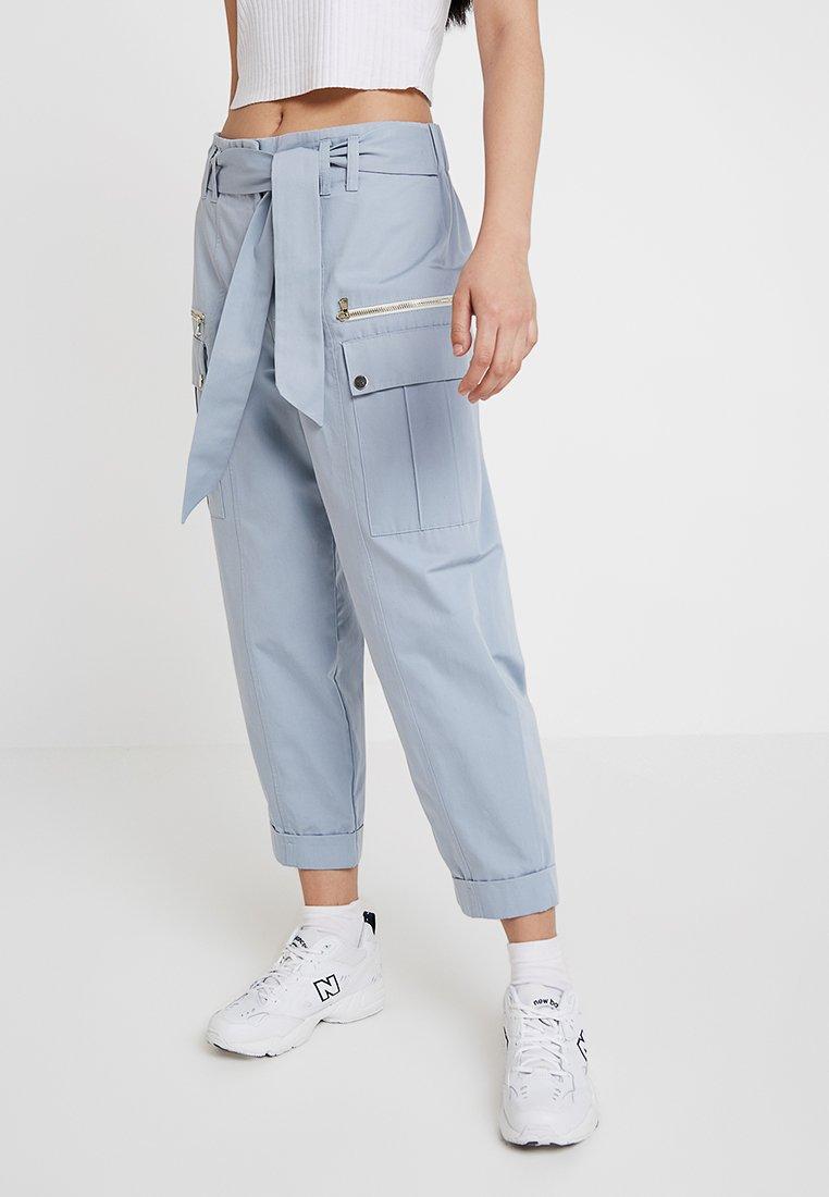 River Island - Pantalones cargo - light blue
