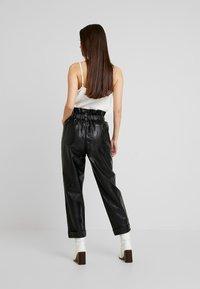 River Island - Spodnie skórzane - black - 3