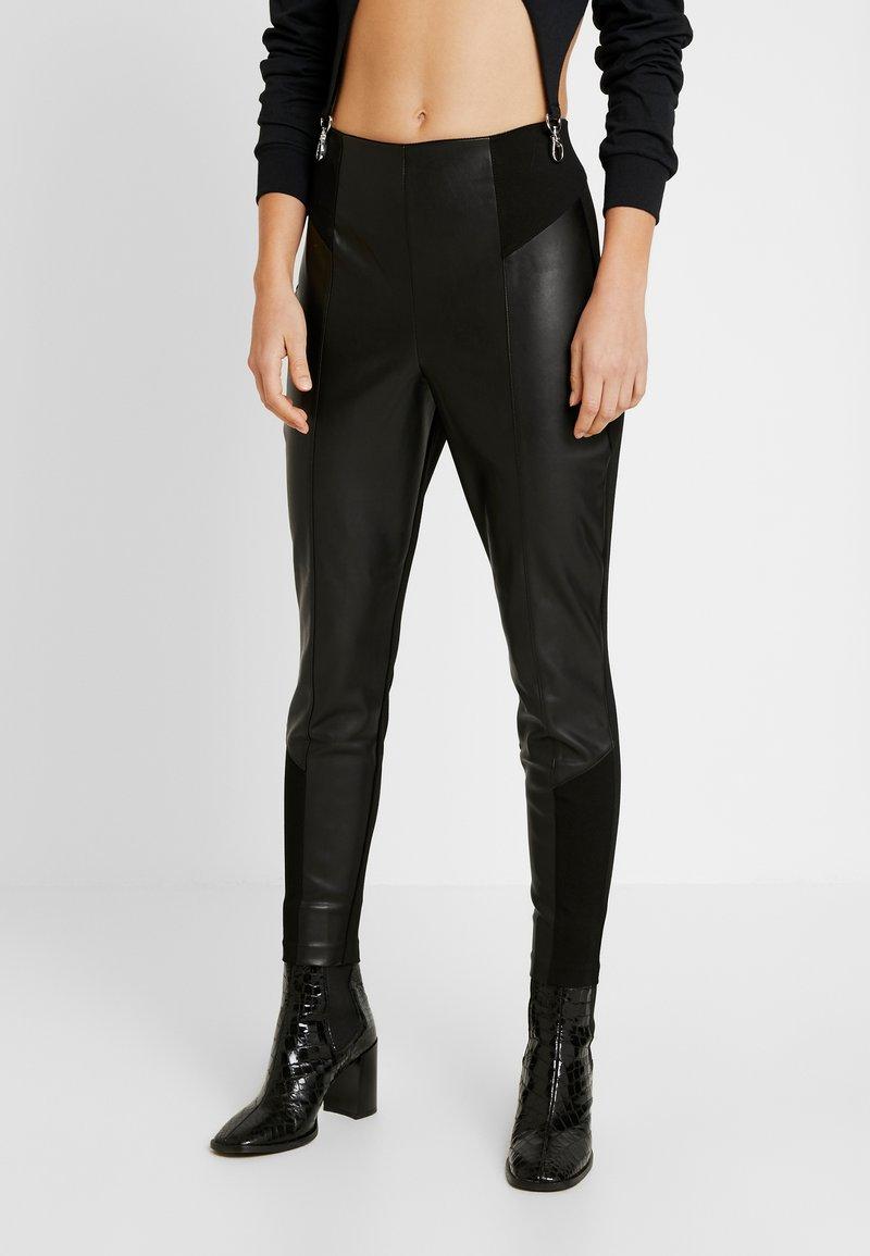 River Island - PONTE HYBRID RITA - Trousers - black
