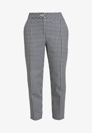 TAILORING DOGTOOTH CIGARETTE - Kalhoty - black