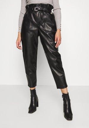 WESTERN - Spodnie materiałowe - black