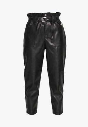 WESTERN - Trousers - black