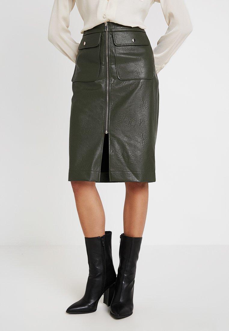 River Island - Pencil skirt - khaki