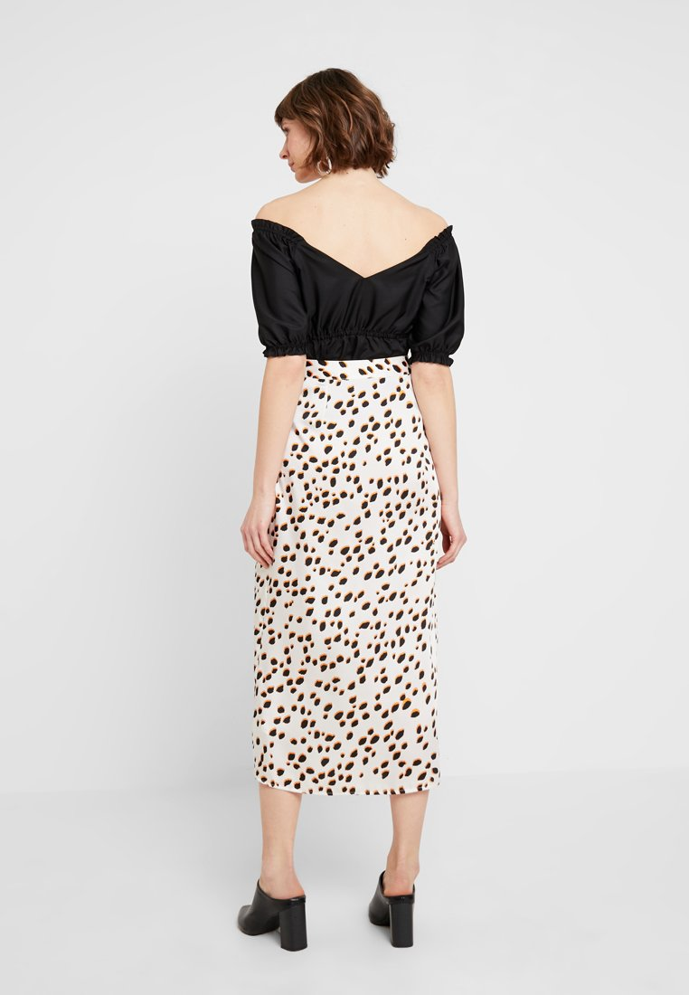 River Island - A-line skirt - white