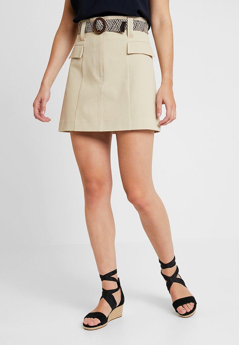 River Island - A-snit nederdel/ A-formede nederdele - beige