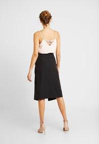 River Island - ULILITY PENCIL - Pencil skirt - black - 2