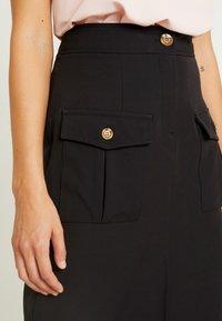 River Island - ULILITY PENCIL - Pencil skirt - black - 4