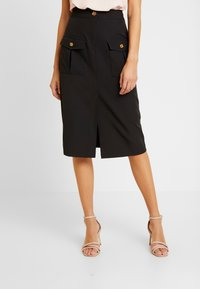 River Island - ULILITY PENCIL - Pencil skirt - black - 0