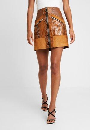 A-line skirt - brown