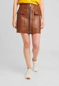 River Island - Mini skirt - tan - 0