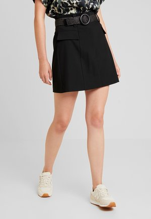 BETRIE BELTED - A-line skirt - black