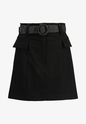 BETRIE BELTED - A-linjainen hame - black