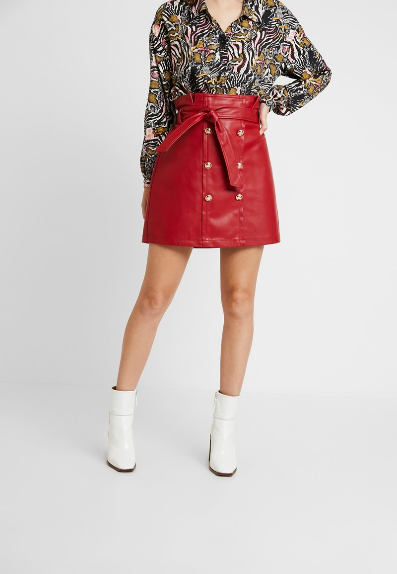 River Island - A-line skirt - red
