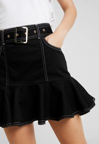 River Island - Gonna di jeans - black - 4