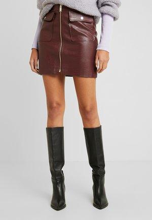 Mini skirt - oxblood