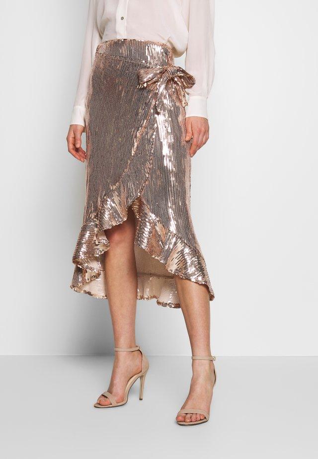 A-line skirt - rose gold