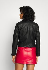 River Island - QUILTED POPPER - Mini skirt - red - 2