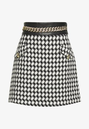 Mini skirt - black/white