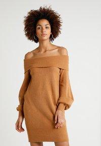 River Island - Strikket kjole - brown - 0