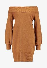 River Island - Strikket kjole - brown - 4