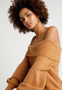 River Island - Strikket kjole - brown - 3