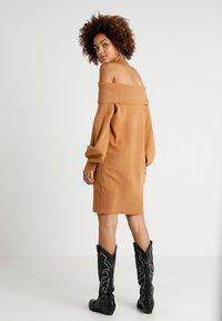 River Island - Strikket kjole - brown - 2
