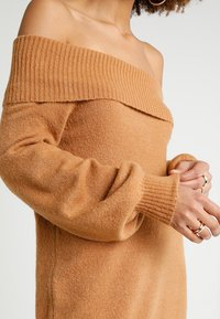 River Island - Strikket kjole - brown - 5