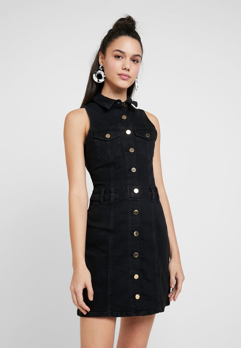 River Island - ADA FITTED DRESS - Spijkerjurk - black